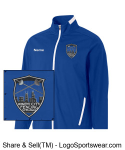 A4 Youth League Full Zip Warm Up Jacket Design Zoom